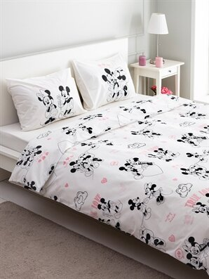 Minnie & Mickey Mouse Lisanslı Nevresim Seti - LCW HOME