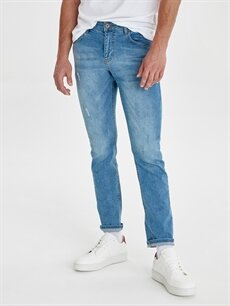 %98 Pamuk %2 Elastan Normal Bel Dar Jean 750 Slim Fit Jean Pantolon