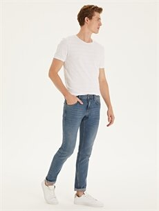 %98 Pamuk %2 Elastan Dar Normal Bel Jean 750 Slim Fit Jean Pantolon